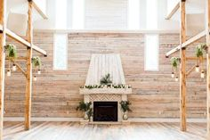 We can't get over the natural wood, whitewashed fireplace and gorgeous amounts of natural light in this Chattanooga wedding venue. If you haven't yet, you'll need to click on the above image and take a personal tour of Ramble Creek Vineyard & Events today. Photo credit: ThePinkBride.com via Ramble Creek