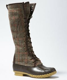 """Signature L.L.Bean Boot, Wool Houndstooth 16"""""""