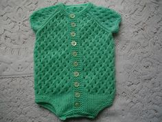Ravelry: Knitting Pattern No. 13 Baby Onsie 0-3 Months pattern by Lynne Christie