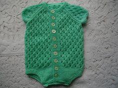 Ravelry: Knitting Pattern No. 13 Baby Onsie 0-3 Months pattern by Lynne Christie