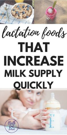 11 Foods that Increase Milk Supply (QUICKLY) Lactation foods are important for breastfeeding moms! Eat more of these foods while nursing to increase milk supply. Lactation recipes, breastfeeding snack ideas and supplement suggestions for new moms. Breastfeeding Snacks, Breastfeeding Problems, Supplements For Breastfeeding, Breastfeeding Smoothie, Breastfeeding Support, Lactation Recipes, Lactation Foods, Lactation Smoothie, Lactation Boosting Foods