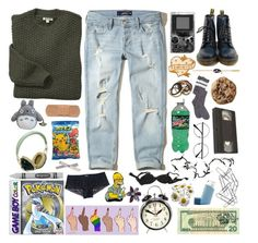 """""""- Open Minded  -"""" by meep1213 ❤ liked on Polyvore featuring Hollister Co., Barbour, Dr. Martens, Kurt Adler, Home Decorators Collection, Agent Provocateur, Newgate, GET LOST and Pull&Bear"""