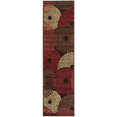 Rug Squared Corona Spiral Runner Rug (2'3 x 8' ) | Overstock.com Shopping - The Best Deals on Runner Rugs.  Brown $84.99
