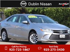 2015 Toyota Camry LE $16,250  miles 925-725-1867 Transmission: Automatic  #Toyota #Camry #used #cars #DublinNissan #Dublin #CA #tapcars