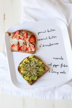 Avocado & strawberry coconut toast