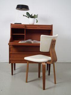 Lovely Danish cabinet with writing shelf
