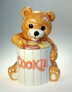 Very Nice, Hand Painted, Ceramic, Teddy Bear, Cookie Jar. Brand: Unmarked  Item: Cookie Jar  Model: Teddy Bear  Material: Ceramic
