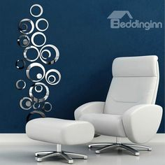 Hot Selling Unique Creative Crystal Mirror Circular DIY 3D Wall Sticker  on sale, Buy Retail Price 3D Wall Stickers at Beddinginn.com