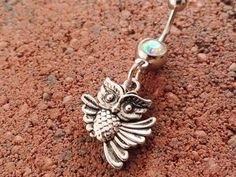 Belly Button Ring Owl Navel Ring Jewelry Piercing. $12.00, via Etsy.