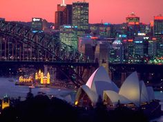 Sydney city view by night