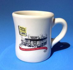 2012 Waffle House Coffee Mug Cup Heavy Dinner Restaurant Diner Style Ceramic #WaffleHouse