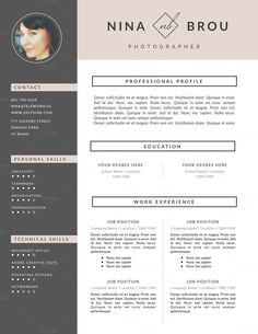 Feminine Resume Design | CV by This Paper Fox on Creative Market