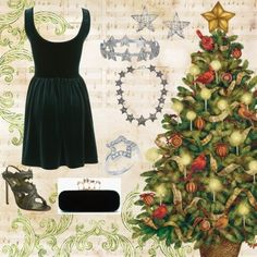 """""""The Star on top of the tree...and the Star under the tree"""" by carolwatergirl on Polyvore"""