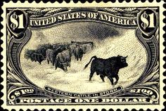Old stamp, western theme