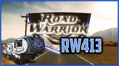 2017 Heartland Road Warrior RW413 Toy Hauler Lakeshore RV Find out more at https://lakeshore-rv.com/heartland-rv/road-warrior/2017-road-warrior-rw413-floor-plan/?pr=true call 231.788.2040 or stop in and see one today!  Road Warrior RW413 Adventure is calling! Answer it with the Road Warrior RW413!  A GVWR of 20000 lbs is created by the strong triple 7000 lb. axles.  Set up is a snap with the easy to use six point hydraulic leveling system that takes the guess work out of getting the RV…