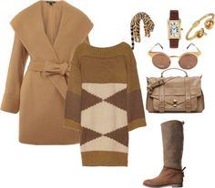 A fashion look from February 2013 featuring loose fitting dresses, lauren ralph lauren coat and flat knee high boots. Browse and shop related looks. Knee High Boots, Camel, Ralph Lauren, Fashion Looks, Coat, Polyvore, Shopping, Dresses, Gowns