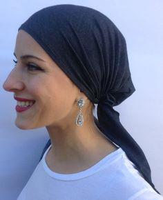 b0322b78c45bc Premium Uptown Girl Headwear Easy On Hijab in Vintage Style Blue or Black  Blue Soft Denim Pre Tied Bandana