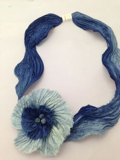 Just when you think you have seen it all!  There is a sole world of Shibori Jewelry!