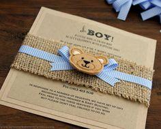 Rústico osito bebé ducha invitación  hecha a por BStudioInvitations