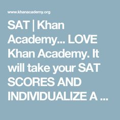 Take real, full-length new SAT practice tests from College Board, watch Sal work through SAT questions, and use Official SAT Practice to get personalized SAT practice tailored just for you. Sat Test Prep, Act Prep, College Test, College Board, Sat Practice Test, Sat Study, Trinity School, Reasoning Test, Test Taking Strategies