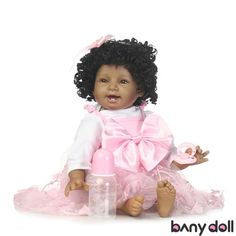 2017 New Design Silicone Baby Reborn Doll Toys Lifelike Black Skin Boy Doll  Child Birthday Xmas Gift Girls Brinquedos Toys 108311cb8504