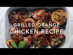 Grilled Orange Chicken Recipe | Little Broken Chicken Marinades, Chicken Recipes, Face Fillers, Bbq Marinade, Good Food, Yummy Food, Dinners, Meals, Smoked Chicken