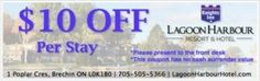 Knights Inn Harbour Resort - Lagoon City Coupon Ontario Attractions, Enjoy Your Vacation, Front Desk, Hotels And Resorts, Knights, Coupons, City, Knight, Cities