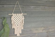 Bohemian Boho Macrame Wall Art Refresh your look with this unique hanging wall tapestry! Lightweight and easy to display, the material and pattern will add tex