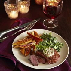 Steak for two! Filet Mignon with Shallot Butter