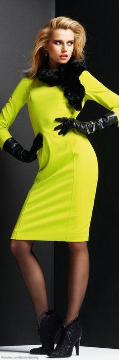Luv the neon yellow! Statement piece... Madeleine