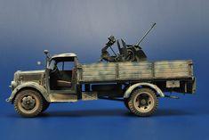 Scale 1/35 – Opel Tamiya Kit, Tristar Flak –DAK, North Africa Campaing, 1942 – Release Date 2009