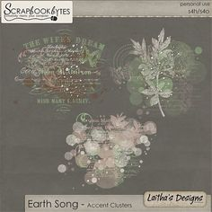 Earth Song - Accent Clusters :: Empherals & Clusters :: Embellishments :: SCRAPBOOK-BYTES