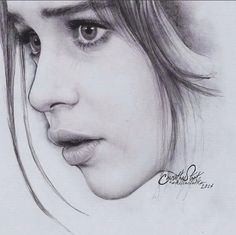 Realistic Portrait Drawing Portrait drawing by Anindito Wisnu Pencil Portrait Drawing, Realistic Pencil Drawings, Pencil Art Drawings, Art Drawings Sketches, Portrait Art, Face Drawings, Girl Drawings, Dessin Game Of Thrones, Drawing People