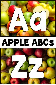 Apple alphabet cards - perfect for literacy centers this fall! You can use the cards in a variety of ways in a preschool class during autumn. Great for alphabet reinforcement, an apple theme, and much more! Grab the free printable.