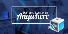 This Portable Mini Air Cooler is a compact, eco-friendly personal air cooler that pulls warm air from the room and cools and humidifies it. It's Freon Free and doesn't need any other toxic coolants, making