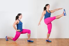 We pulled together 32 lunge variations to challenge your lower body with dumbbells, medicine balls, plyometric exercises, and more. Plyometric Workout, Tabata Workouts, Cardio Routine, Plyometrics, Quick Workouts, Side Lunges, One Legged Squat, Curtsy Lunge, Groomsmen
