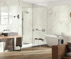 BISTROT CALACATTA MICHELANGELO 40X120, R4UF, mp/cutie 2.88 Wood Bathroom, Bathroom Lighting, Light Wood Cabinets, Bathroom Design Inspiration, Calacatta, Michelangelo, Wall Tiles, Home Deco, Small Spaces