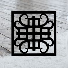 This decorative Wrought Iron Wall Art piece, Style 216, features a Geometric square silhouette that will add beauty and character to any wall or surface. It is coated in one of the most long-lasting finishes available - a flat black baked-on powder coated finish that will last for many years. Wrought Iron Wall Art, Art Pieces, Powder, Hotels, Surface, Wall Decor, Silhouette, Flat, Crafts