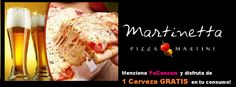 Visita La Martinetta en plaza solare 3er piso y pide tu cerveza gratis mencionando yocancun!