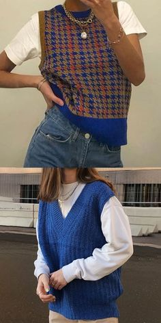 Indie Outfits, Retro Outfits, Cute Casual Outfits, Vintage Outfits, Women's Casual, Socks Outfit, Goth Outfit, Sweater Vest Outfit, Sweater Vests
