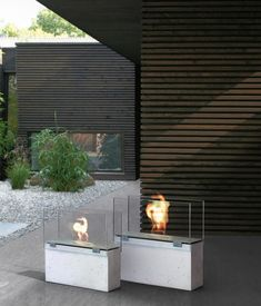 Conmoto Muro Fireplaces Bioethanol Fireplace Modern Minimalist Traditional
