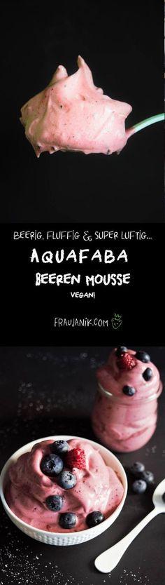 Aquafaba Mousse   3 Zutaten   vegan, Einfache Beeren Mousse #aquafaba #mousse #creme #beeren #dessert #vegan #softeis