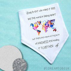 A BIG event..tiny acts of kindness baby bandana dribble bib.