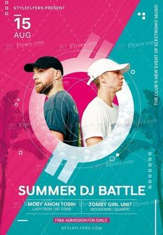 Summer DJ Battle PSD Flyer Template and more than Premium PSD flyer templates for event, loud party or successfull business. Sports Graphic Design, Graphic Design Trends, Web Design, Graphic Design Posters, Catalogue Design Templates, Psd Flyer Templates, Logo Template Psd, Event Poster Design, Event Posters