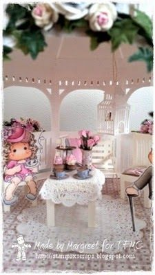 magnolia tea time gazebo from svg- cuts part 4 Stamps - Scraps