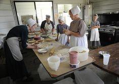 Bakery - pie-making.