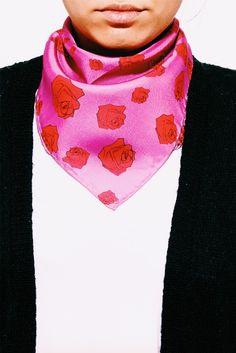 Rose Silk Bandana #tukutukum  #bandana