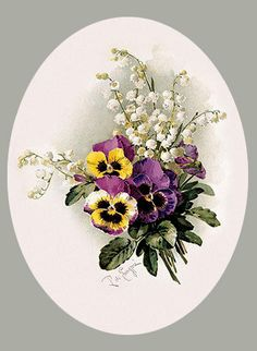Pansies & Lillies of the Valley, Art Print by Paul de Longpre. Love Your Art and Own It! Shop high quality art prints, framed art and art posters at ArtPrintsAndDecor…. Printed in the USA with guaranteed satisfaction. Art Floral, Floral Prints, Art Vintage, Vintage Art Prints, Pressed Flower Art, China Painting, Lily Of The Valley, Pictures To Paint, Botanical Art