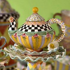 Mackenzie-Childs - You can't have enough teapots.