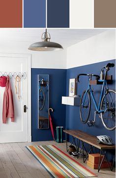 Motivation Monday | Stylyze + CB2 Modern Living Room #bikerack #bike